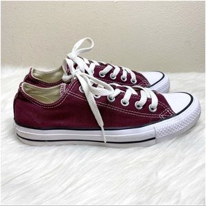 Converse All Star Maroon Low Top Sneakers